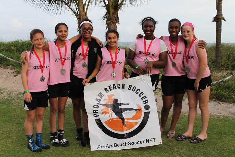 Sunrise SC 01/02 Yellow Finalist at  PRO-AM - Beach Soccer Tournament