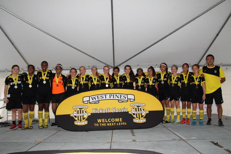 Sunrise SC 01/02 Yellow Finalist at West Pines Tournament