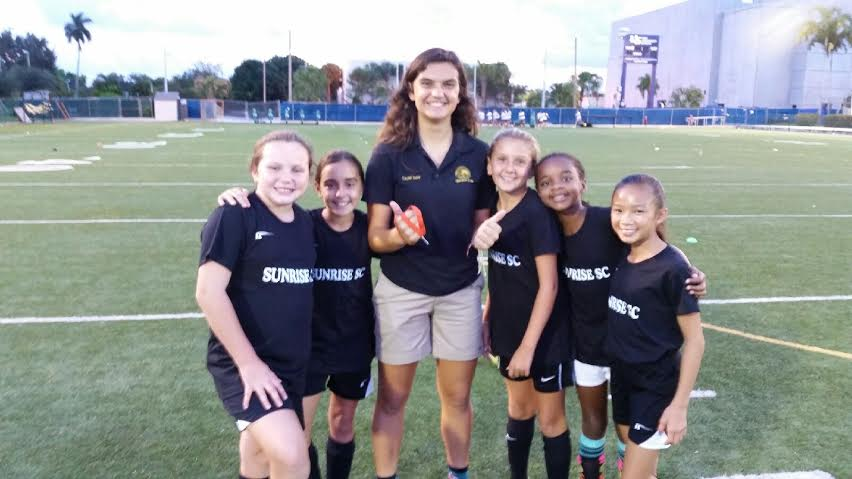 Sunrise SC U11 with Sunrise U17 National Team Member Laurel Ivory